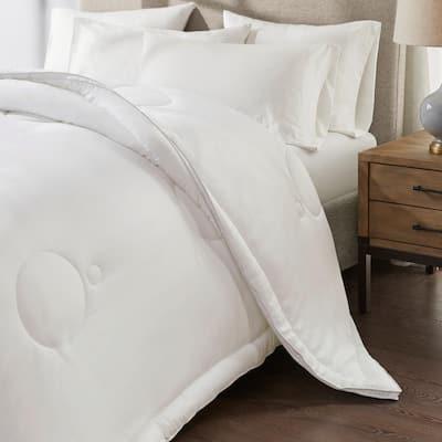 Comfie White King Tencel Hypoallergenic Down Alternative Comforter