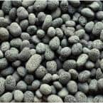 0.32 cu. ft. 25 lbs. 1/2 in. to 1 in. Black Smooth Beach Lava Pebble for Landscaping and Fire Features