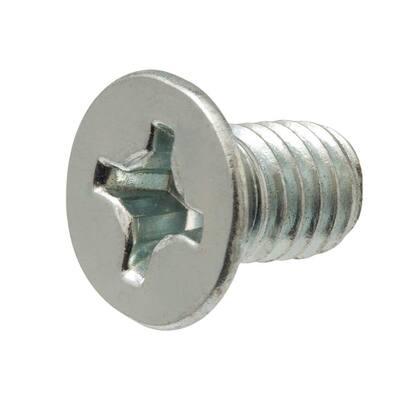 1/4 in.-20 x 1 in. Phillips Flat Head Zinc Plated Machine Screw (50-Pack)