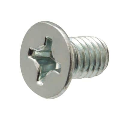 M4-0.7 x 12 mm Phillips Flat Head Stainless Steel Machine Screw (2-Pack)