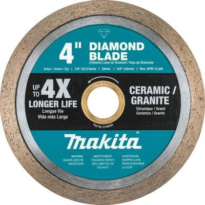 4 in. Continuous Rim Diamond Blade for General Purpose