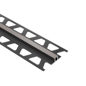 Dilex-BWB Grout Grey 1/4 in. x 8 ft. 2-1/2 in. PVC Movement Joint Tile Edge Trim