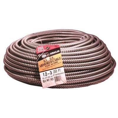 250 ft. 12/3 Solid CU BX/AC (Duraclad) Armored Steel Cable