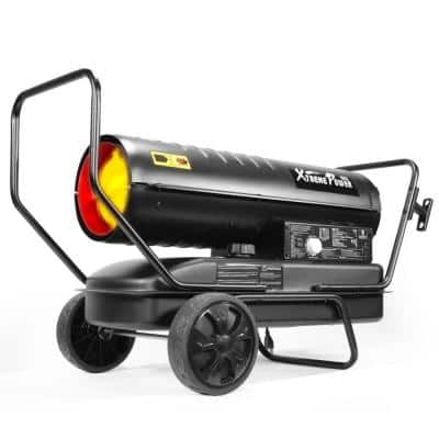 100K BTU Forced Air Kerosene/Diesel Portable Space Heater with Automatic Shutoff and Thermostat