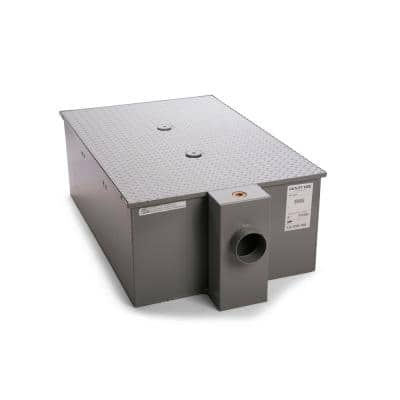 29 in. x 16 in Low-Profile Grease Trap 50 GPM with 4 in Ho Hub
