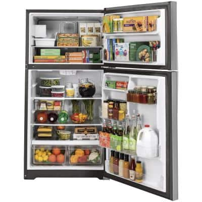 21.9 cu. ft. Top Freezer Refrigerator in Stainless Steel