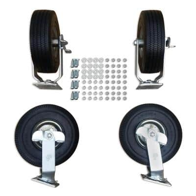 10 in. Non-Pneumatic Ever Roll Wheel Kit for Item #1369-1 with Hardware Included