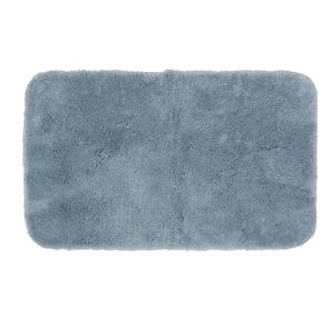 New Regency Diamond Blue 21 in. x 34 in. Nylon Machine Washable Bath Mat