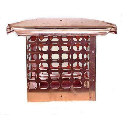 13 in. x 17 in. Adjustable Copper Chimney Cap