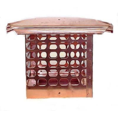 8 in. x 17 in. Adjustable Copper Chimney Cap