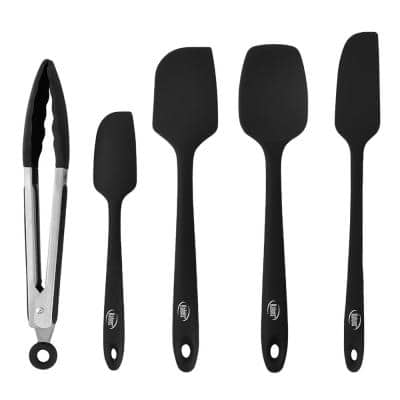 Heat Resistant Rubber Silicone Spatula (Set of 5)