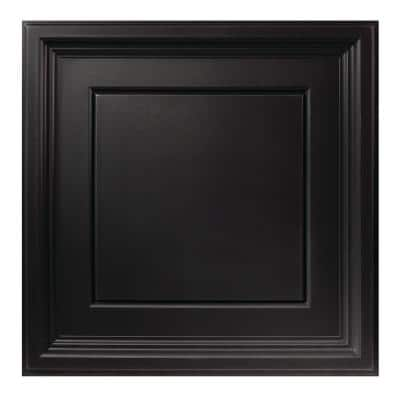 23.75in. X 23.75in. Icon Coffer Lay In Vinyl Black Ceiling Panel (Case of 12)