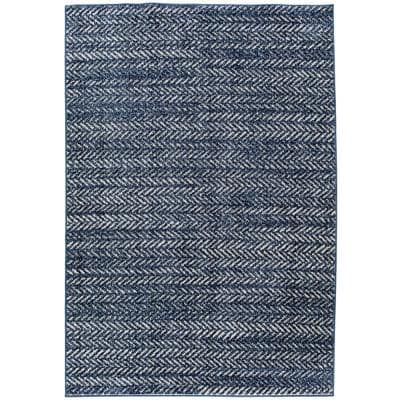 Chevron Blue Area Rugs Rugs The Home Depot