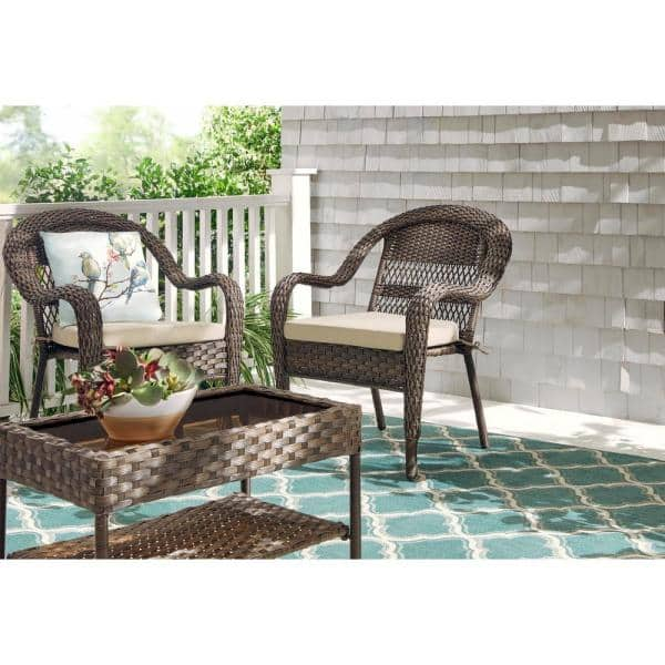 Stylewell Mix And Match Stackable Brown, Resin Wicker Outdoor Furniture
