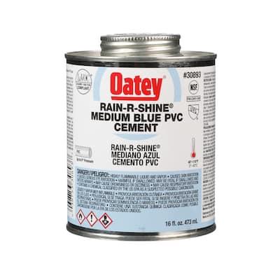 Rain-R-Shine 16 oz. Medium Blue PVC Cement