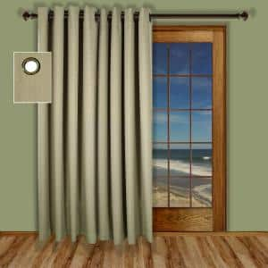 Natural Grommet Blackout Curtain - 110 in. W x 84 in. L