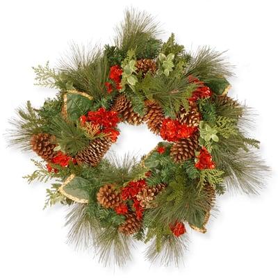27 in. Evergreen Artificial Wreath