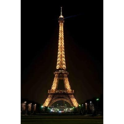 23.5 in. x 15.75 in. LED Lighted Famous Eiffel Tower Paris France at Night Canvas Wall Art