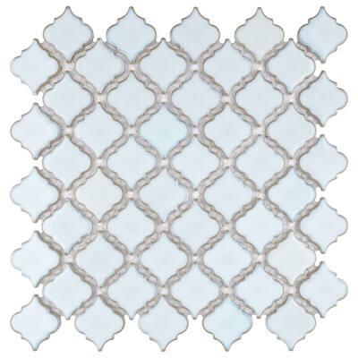 Hudson Tangier Silk White 12 in. x 12 in. Porcelain Mosaic Tile (10.96 sq. ft. / Case)