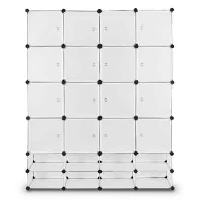 White Steel Clothes Rack 58 in. W x 72 in. H