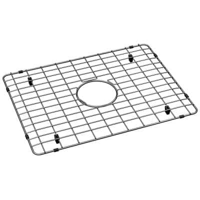 21 in. x 15 in. Bottom Grid for Kitchen Sink in Stainless Steel