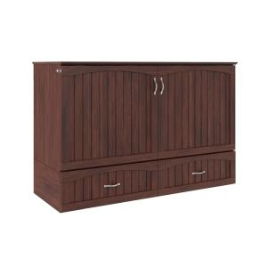 Southampton Murphy Bed Chest Queen Walnut with Charging Station
