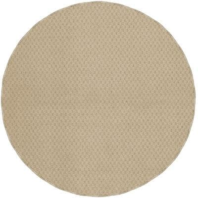 Town Square Tan 7 Ft. 6 In. Round Area Rug