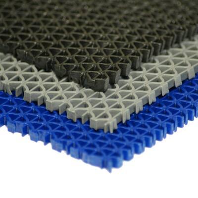 S-Grip Black 3/16 in. x 4 ft. x 25 ft. PVC Drainage Mat