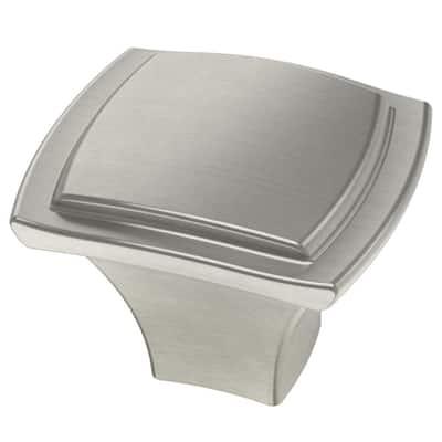 Step Edge 1-1/4 in. (32 mm) Satin Nickel Cabinet Knob