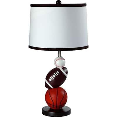 25 in. Multi Color Sport Table Lamp