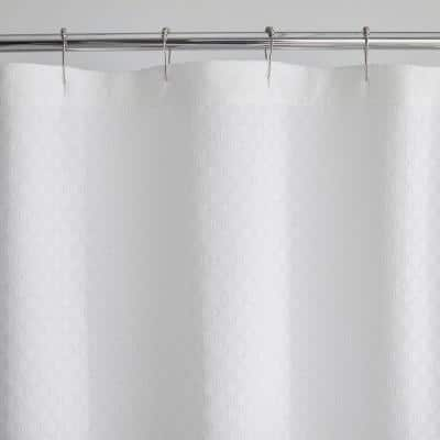 Lucille 72 in. White Shower Curtain