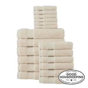 18-Piece Hygrocotton Towel Set in Oatmeal