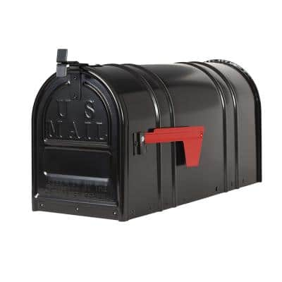 Carlton Post-Mount T2 Mailbox, Black
