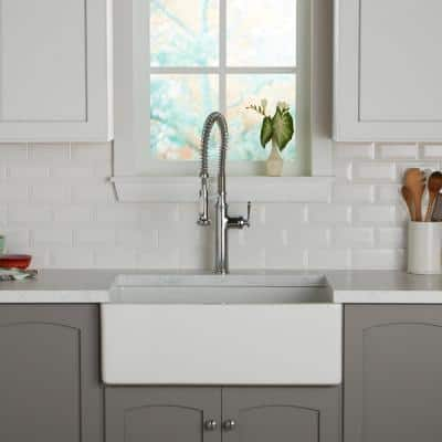 Restore 3 in. x 6 in. Ceramic Bevel Bright White Subway Tile (10 sq. ft. / case)