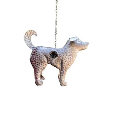 Gray Galvanized Hanging Animal Dog Birdhouse