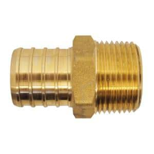 1 in. Brass PEX Barb x 3/4 in. Male Pipe Thread Reducing Adapter