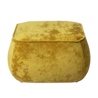 Yellow Living Room Square Ottoman