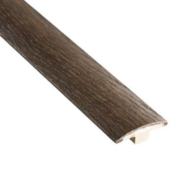 Smoked Gray Acacia 3/8 in. Thick x 2 in. Wide x 78 in. Length T-Molding