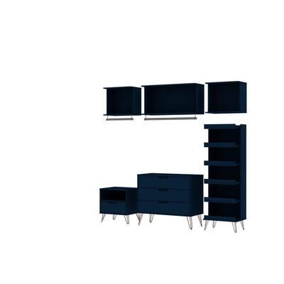 Rockefeller 6-Piece Tatiana Midnight Blue Full Open Closet Wardrobe Set