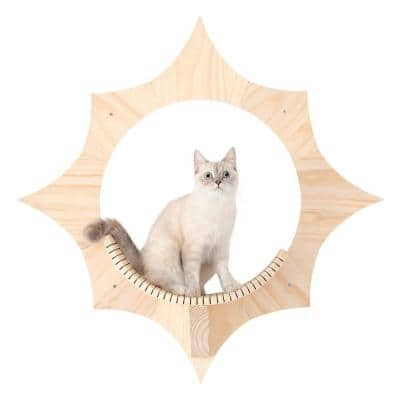 MYZOO Solar Beige Wall Mounted Cat Shelves Furniture Cover