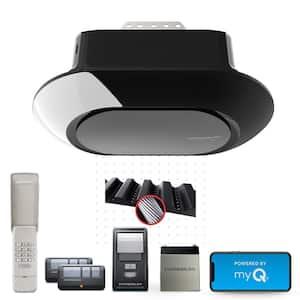 3/4 HP LED Smart Quiet Belt Drive Garage Door Opener with Battery Backup