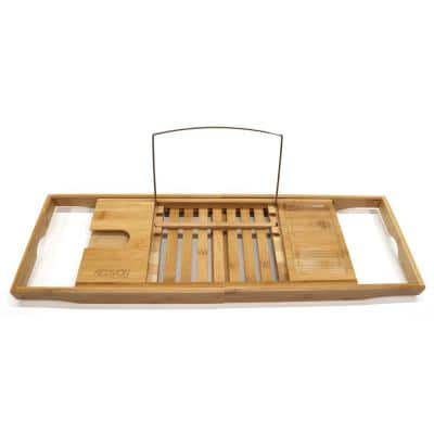 Expandable Bamboo Bath Caddy Tray