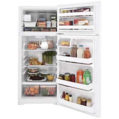 17.5 cu. ft. Top Freezer Refrigerator in White, ENERGY STAR