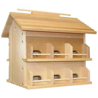 12 Room Wood Starling Resistant Purple Martin House
