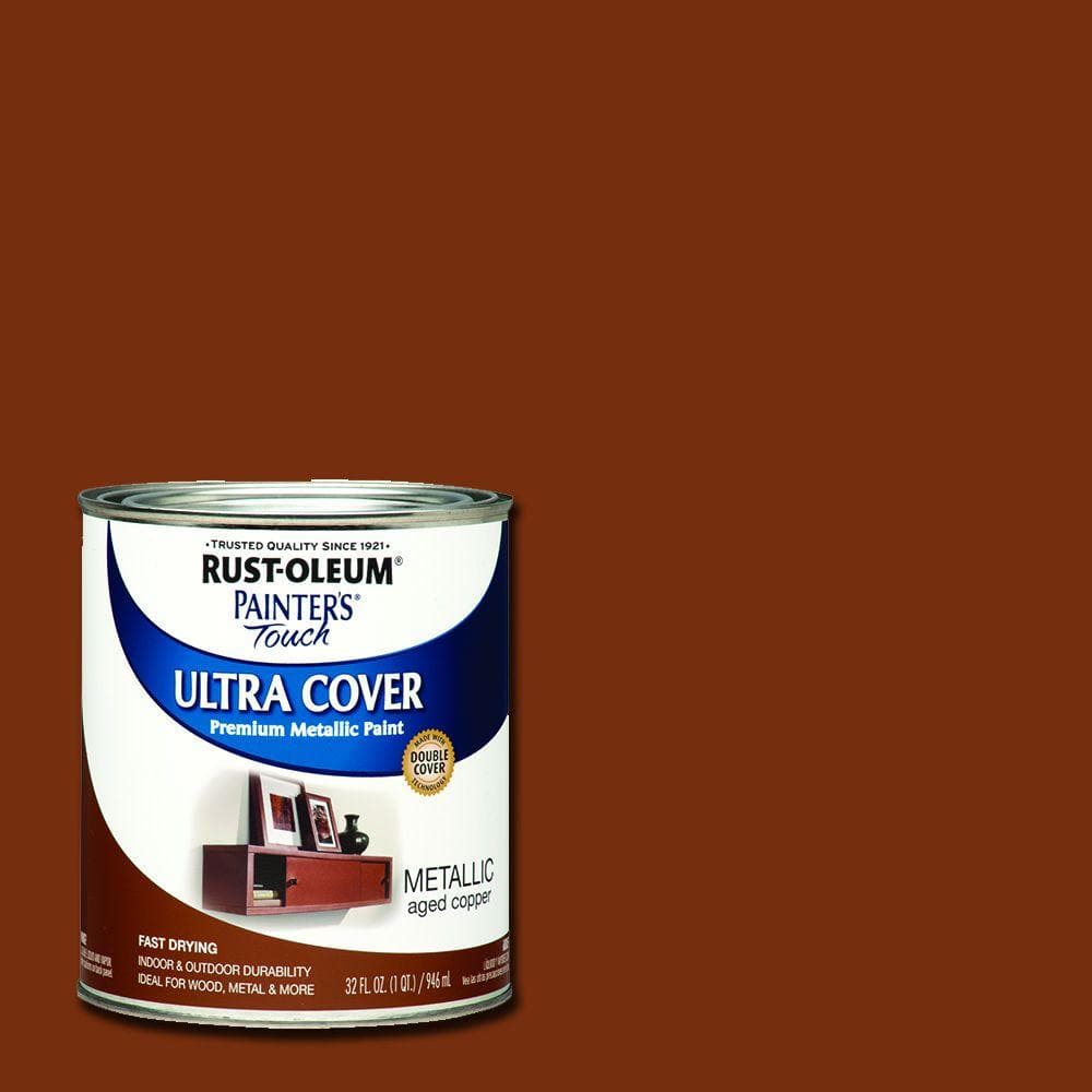 Rust-Oleum Painter's Touch 32 oz. Ultra Cover Metallic Aged Copper General Purpose Paint (Case of 2)