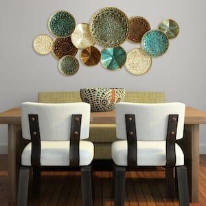 Multi Metal Plate Wall Decor