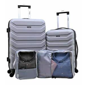 Wrangler 4-Pc Hardside Value Luggage Set w/Spinner Wheels, Cubes Deals