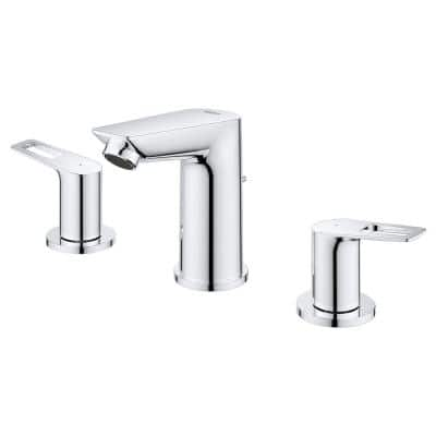 BauLoop 8 in. Widespread 2-Handle Bathroom Faucet in StarLight Chrome