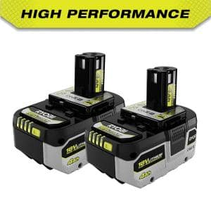 Deals on 2-Pack RYOBI ONE+ 18V Lithium-Ion 4.0 Ah Battery PBP2004