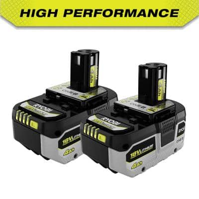ONE+ 18V HIGH PERFORMANCE Lithium-Ion 4.0 Ah Battery (2-Pack)